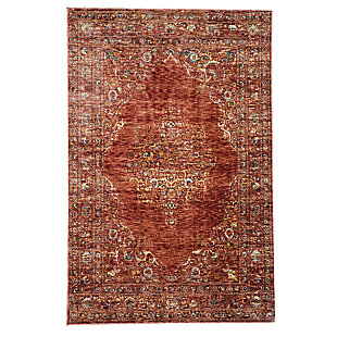 "Manor Ornate 7'10"" x 9'10"" Rug, Red, large"