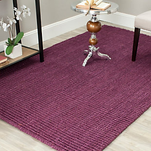 Safavieh Natural Fiber 5' x 8' Area Rug, Purple, rollover