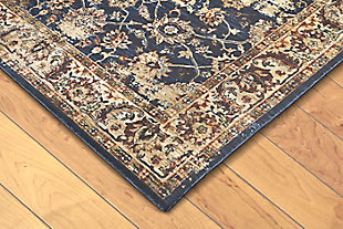 "Manor Persian 4'10"" x 7'4"" Rug, Blue, rollover"