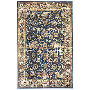 "Manor Persian 4'10"" x 7'4"" Rug, Blue, large"