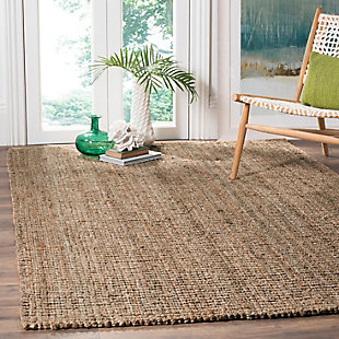 Safavieh Natural Fiber 5' x 8' Area Rug, Natural/Gray, rollover