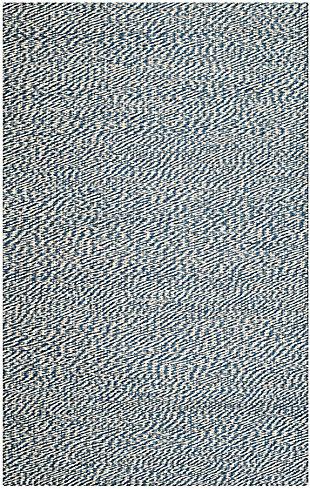 Safavieh Natural Fiber 5' x 8' Area Rug, Blue/Ivory, large