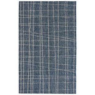 "Irvine Patchwork 5' x 7'6"" Rug, Blue, large"