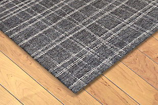 "Irvine Patchwork 3'6"" x 5'6"" Rug, Gray, rollover"
