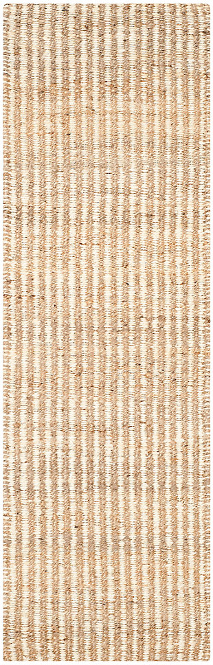 Safavieh Natural Fiber 2'-3 x 9' Runner, Natural/Ivory, large