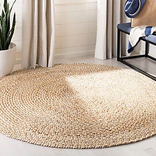 Safavieh Natural Fiber 6' x 6' Round Area Rug, Natural/Ivory, rollover