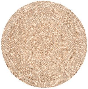 Safavieh Natural Fiber 6' x 6' Round Area Rug, Natural/Ivory, large