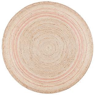Safavieh Natural Fiber 5' x 5' Round Area Rug, Pink, large