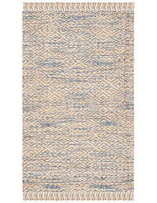 Safavieh Natural Fiber 5' x 8' Area Rug, Natural/Blue, large