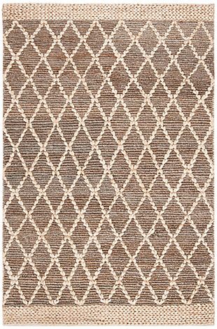 Safavieh Natural Fiber 5' x 8' Area Rug, Natural/Gray, rollover