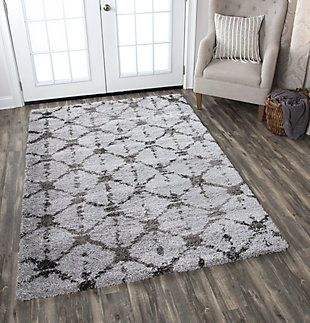 "Midnight Midnight Gray 5'3"" x 7'3"" Power-Loomed Rug, Gray, rollover"