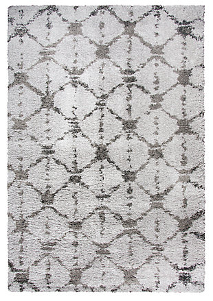 "Midnight Midnight Gray 5'3"" x 7'3"" Power-Loomed Rug, Gray, large"