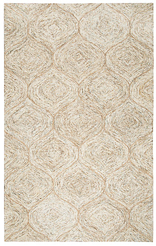 London London Brown 5' x 8' Hand-Tufted Rug, Brown, rollover