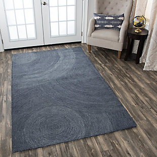 London London Gray 5' x 8' Hand-Tufted Rug, Gray, rollover