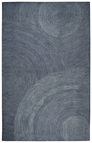 London London Gray 5' x 8' Hand-Tufted Rug, Gray, large