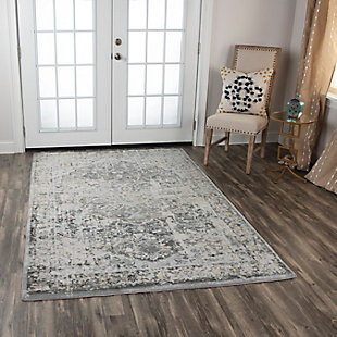 "Lavish Lavish Neutral 5'3"" x 7'6"" Power-Loomed Rug, Beige, rollover"