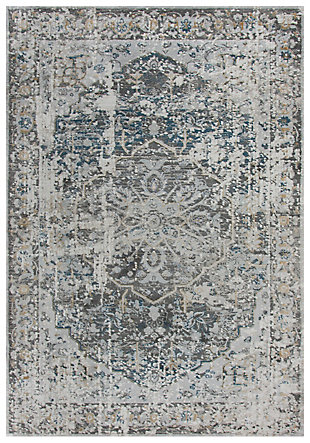 "Lavish Lavish Neutral 5'3"" x 7'6"" Power-Loomed Rug, Beige, large"