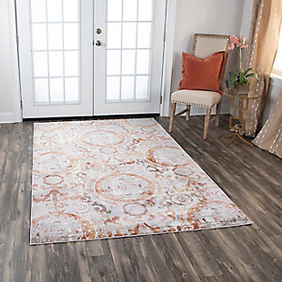 "Lavish Lavish Neutral 5'3""x7'6"" Power-Loomed Rug, Beige, rollover"