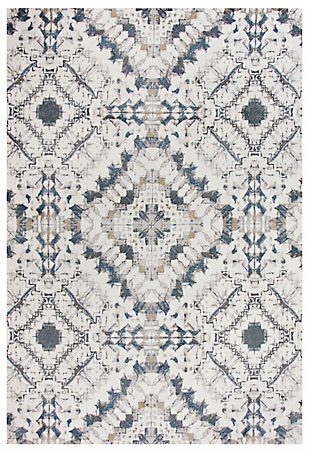 "Lavish Lavish Neutral 5'3""x7'6"" Power-Loomed Rug, Beige, large"
