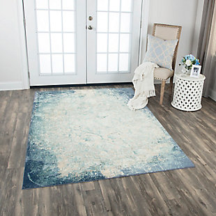 "Glamour Glamour Blue 5'3""x7'6"" Power-Loomed Rug, Teal/Blue, rollover"