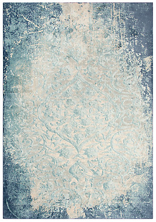 "Glamour Glamour Blue 5'3""x7'6"" Power-Loomed Rug, Teal/Blue, large"