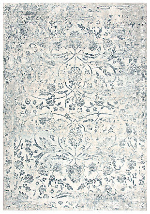 "Glamour Glamour Neutral 5'3""x7'6"" Power-Loomed Rug, Cream/Gray, large"