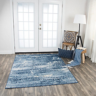 Encore Encore Blue 8' x 10' Power-Loomed Rug, Blue, rollover