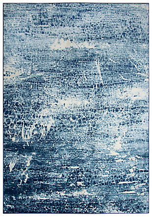 Encore Encore Blue 8' x 10' Power-Loomed Rug, Blue, large