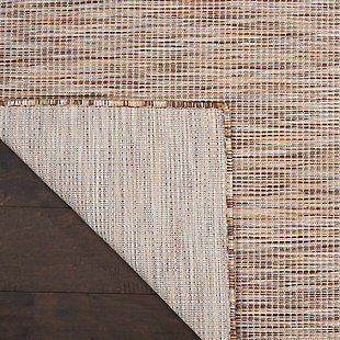 Nourison Positano 6' X 9' Beige Brushstroke Indoor/outdoor Rug, Beige, large