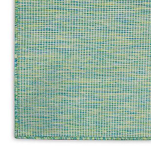 """Nourison Positano 2'2"""" X 8' Blue/green Brushstroke Indoor/outdoor Rug, Blue/Green, large"""