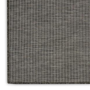 Nourison Positano 6' X 9' Charcoal Brushstroke Indoor/outdoor Rug, Charcoal, large