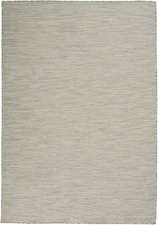 Nourison Positano 5' X 7' Light Gray Brushstroke Indoor/outdoor Rug, Light Gray, large