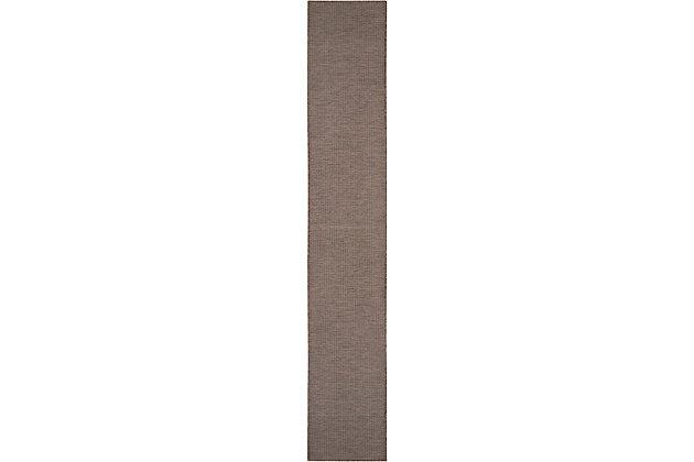 "Nourison Positano 2'2"" X 12' Natural Brushstroke Indoor/outdoor Rug, Natural, large"