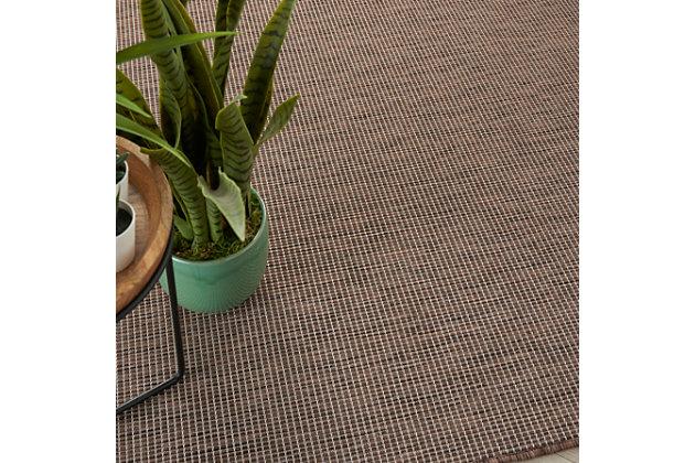 Nourison Positano 5' X 7' Natural Brushstroke Indoor/outdoor Rug, Natural, large