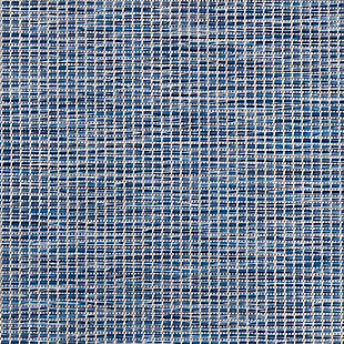"""Nourison Positano 2'2"""" X 12' Navy Blue Brushstroke Indoor/outdoor Rug, Navy Blue, large"""