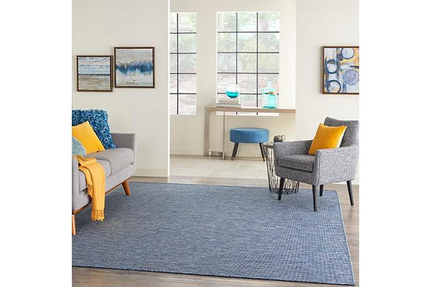 Nourison Positano 6' X 9' Navy Blue Brushstroke Indoor/outdoor Rug, Navy Blue, large