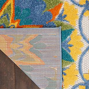 "Nourison Aloha 5'3"" X 7'5"" Multicolor Floral Indoor/Outdoor Rug, Multi, large"