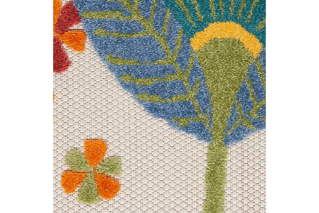 Nourison Aloha 4' X Round Multicolor Floral, Multi, large