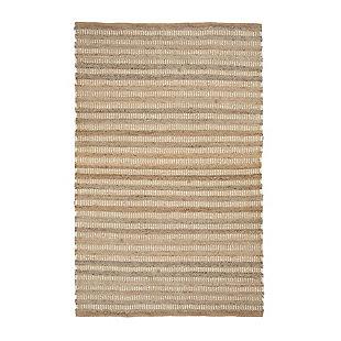 AB HOME Stripe 5' x 8' Jute Rug, Multi, large