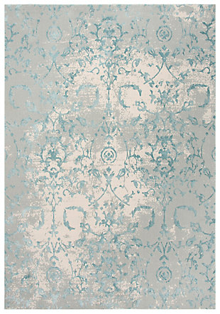 """Rizzy Home Glamour 5'3"""" x 7'6"""" Power-Loomed Area Rug, Gray, large"""