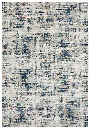 """Rizzy Home Glamour 5'3"""" x 7'6"""" Power-Loomed Area, Gray, large"""