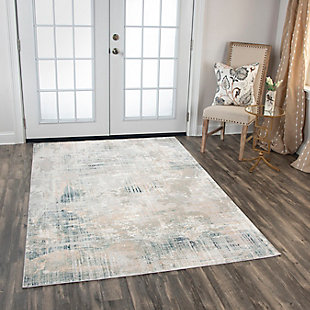 """Rizzy Home Glamour 5'3"""" x 7'6"""" Power-Loomed Area, Gray, rollover"""