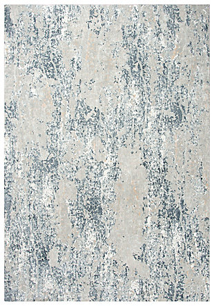 """Rizzy Home Glamour 5'3"""" x 7'6"""" Power-Loomed Area, Neutral, large"""