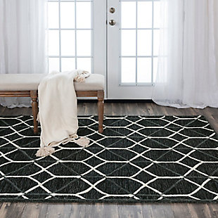 """Rizzy Home Ava 5' x 7'6"""" Tufted Area Rug, Gray, rollover"""