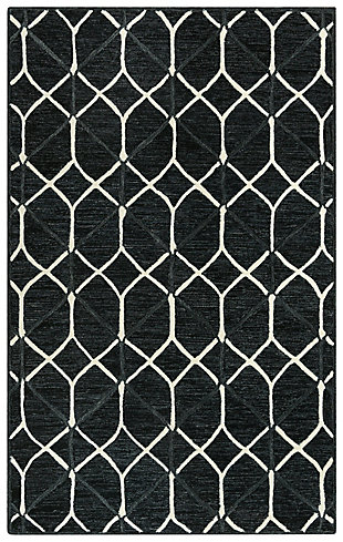 """Rizzy Home Ava 5' x 7'6"""" Tufted Area Rug, Gray, large"""