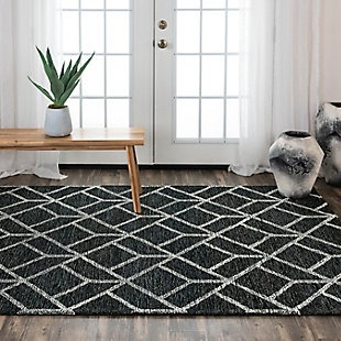 """Rizzy Home Avondale 5' x 7'6"""" Tufted Area Rug, Gray, rollover"""