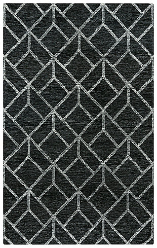 """Rizzy Home Avondale 5' x 7'6"""" Tufted Area Rug, Gray, large"""