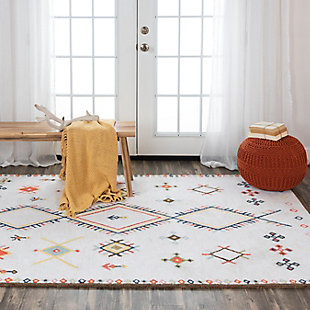 """Rizzy Home Catawba 5' x 7'6"""" Tufted Area Rug, Beige, rollover"""
