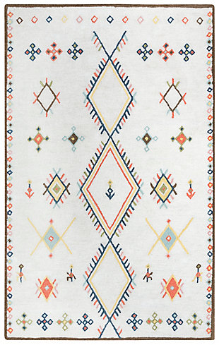 """Rizzy Home Catawba 5' x 7'6"""" Tufted Area Rug, Beige, large"""