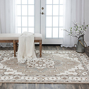 """Rizzy Home Conley 5' x 7'6"""" Tufted Area Rug, Beige, rollover"""